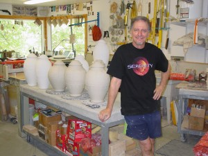 Craig Rhodes in his studio.