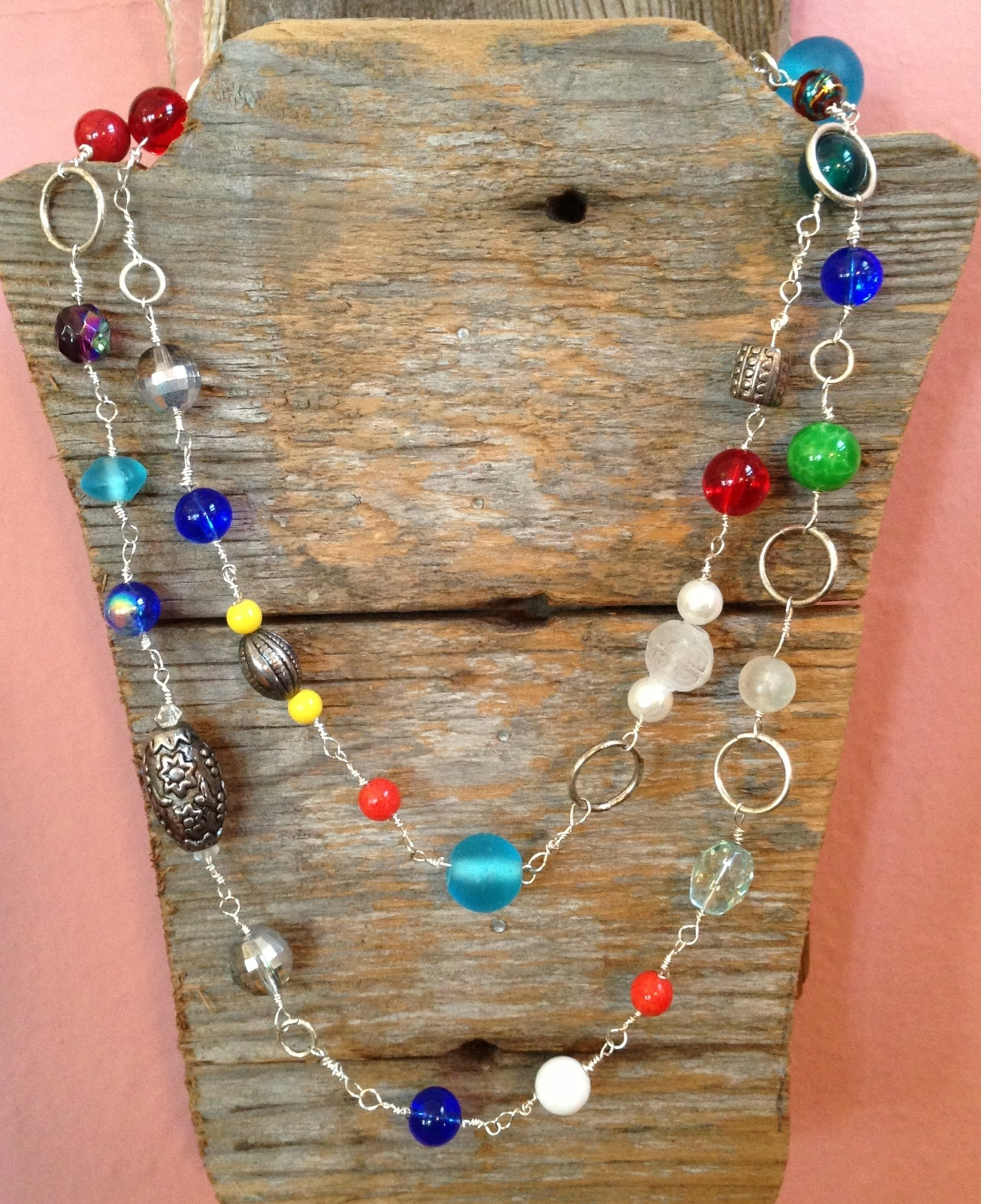 Handcrafted Bead and Wire Necklace from Angie's Originals.  www.angiesoriginals.com