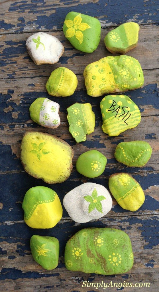 Painted Garden Rocks by Simply Angies