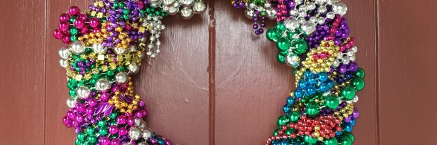Simple Mardi Gras Wreath